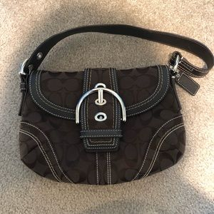 Coach chocolate brown small shoulder bag